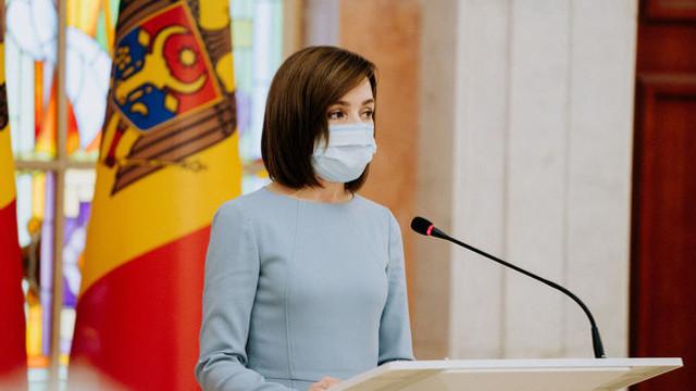 """Președintele Maia Sandu salută ajutorul UE: """"Acest sprijin european este și un semnal de încurajare pentru noua echipă guvernamentală"""""""
