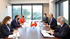 Nicu Popescu a avut o întâlnire cu omologul din Republica Turcia, Mevlüt Çavușoğlu, în cadrul programului bilateral de la New York