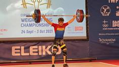 Halterofilul Daniel Lungu a ocupat locul 3 la Campionatul European Under 23