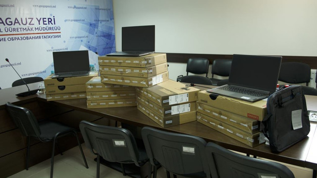 Instituțiile de învățământ din UTA Găgăuzia au fost dotate cu 75 de laptopuri