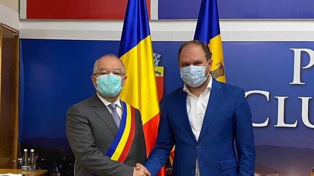 Primarul municipiului Chișinău a avut o întrevedere cu Primarul de Cluj, Emil Boc. Subiectele abordate de cei doi oficiali