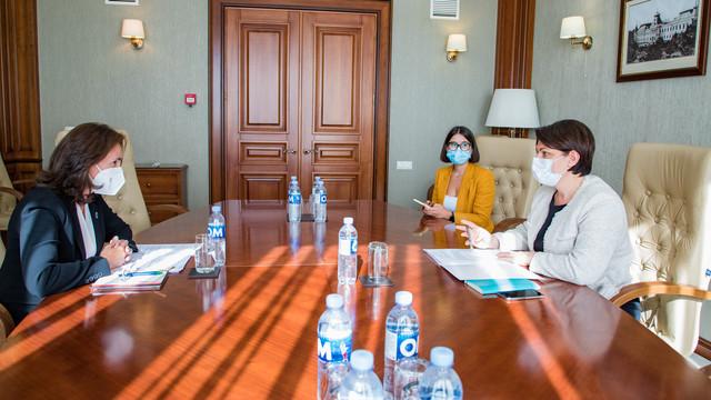 Interconectarea rețelelor de energie electrică dintre R.Moldova și România - unul din subiectele discutate de premier cu șefa brioului BERD