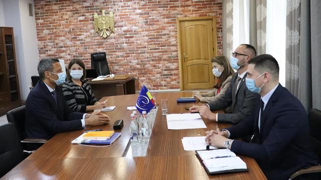 Ministrul Justiției, în dialog cu șeful Oficiului Consiliului Europei la Chișinău