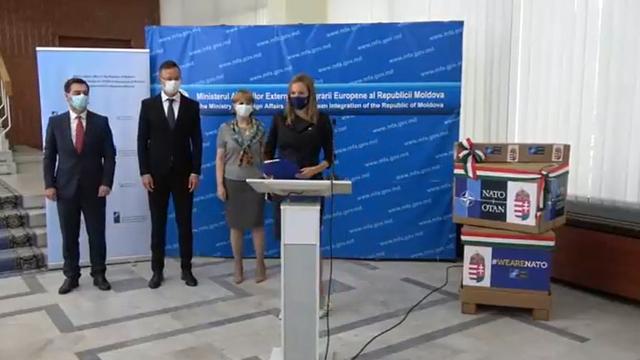 """Echipamente medicale pentru lupta cu COVID-19, în valoare de peste 1,4 mln de euro, donate de NATO și Ungaria: """"NATO reiterează angajamentul său pentru parteneriatul și cooperarea continuă cu R. Moldova"""""""
