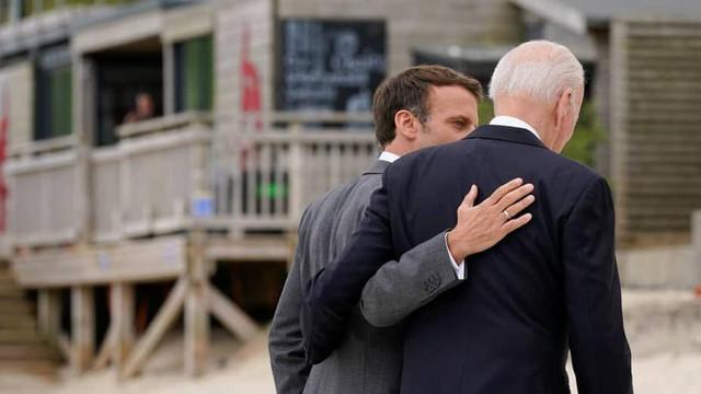 Scandalul submarinelor Macron va avea o discuție telefonică cu președintele SUA, după ce și-a rechemat ambasadorul de la Washington