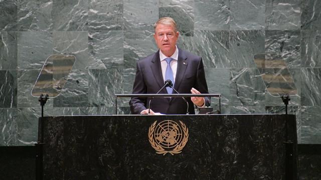 Klaus Iohannis, de la tribuna ONU: Valorile democratice și ordinea bazată pe reguli, fundamente ale unui viitor mai bun. Conflictele prelungite din vecinătatea României continuă să amenințe securitatea Europei