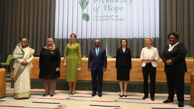 Maia Sandu a participat, la New York, la o reuniune a șefelor de state și de guverne pe subiectul promovării egalității de gen