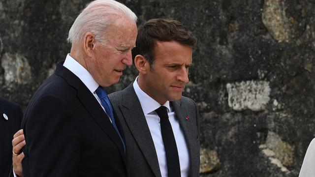 Criza submarinelor: Ambasadorul francez va reveni la Washington săptămâna viitoare, a decis Emmanuel Macron după convorbirea cu Joe Biden