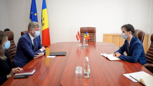 Relațiile economice moldo-letone discutate de către Ministrul Economiei și Ambasadorul Republicii Letone în Republica Moldova
