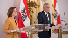 """Maia Sandu: """"Contăm pe sprijinul Austriei pentru aprofundarea cooperării dintre Uniunea Europeană și țările Parteneriatului Estic ce au Acorduri de Asociere cu UE"""""""