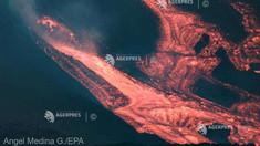 La Palma | O parte a craterului vulcanului s-a prăbușit, într-un moment de maximă activitate