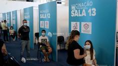 Rata de incidență crește în Portugalia, țară cu 85,9% din populație vaccinată anti-COVID