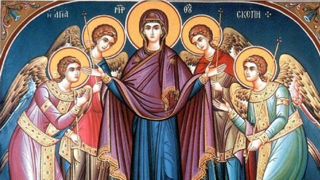 Creștinii ortodocși de stil vechi sărbătoresc astăzi Acoperământul Maicii Domnului